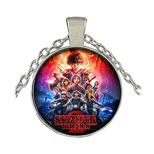 Stranger Things Necklace Pendant - Poster Cast - Netflix TV Series Eleven Charm Cosplay by Athena Brand