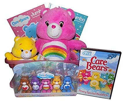 Amazon the ultimate care bears gift basket with plush cheer the ultimate care bears gift basket with plush cheer bear figurine set coloring book negle Images