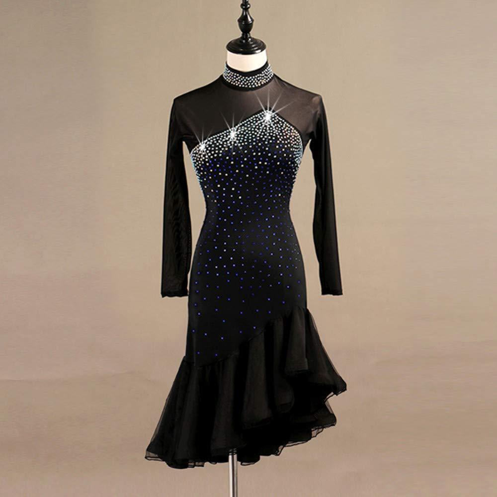 人気沸騰ブラドン ラテンダンスドレス女性のパフォーマンススパンデックス結晶ラインストーン長袖ドレス B07P81CZ7L Large|Black Large Black Black B07P81CZ7L Large, セグレート:fb0689b2 --- a0267596.xsph.ru