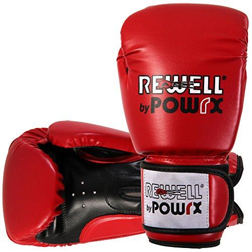 Boxhandschuhe Kunstleder 10 12 14 16 oz Schwarz Weiß Rot Pink Damen Herren
