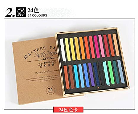Marie da 12//24//36//48/Colori Morbido Masters Pastel Colored Chalk Drawing Coloring Dye Hair Art Supplies 12 Colors