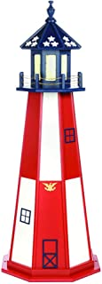 product image for DutchCrafters Decorative Lighthouse - Wood, Cape Henry Style (Red/White/Blue (Patriotic), 5)