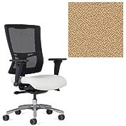 Office Master Affirm Collection AF528 Ergonomic Executive High Back Chair - JR-69 Armrests - Black Mesh Back -...