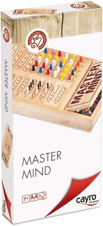 Cayro - Master Mind Colores de Madera - Juego de razonamiento y Estrategia - Juego de Mesa - Desarrollo de Habilidades cognitivas e inteligencias múltiples - Juego de Mesa (626): Amazon.es: Juguetes y juegos