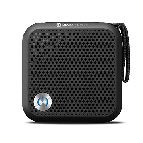 MuveAcoustics A-Plus Portable Bluetooth Speaker - Loudest Wireless Stereo Sound for Home and Travel with up to 7 Hours of Playtime, Black (Bauhn Bluetooth Speaker)