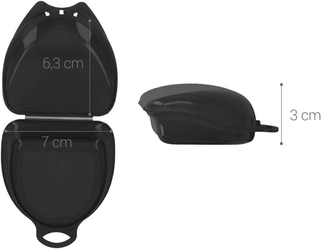 kwmobile Mundschutz Zahnschutz Box H/ülle 6,3 x 6,7 x 3 cm Innenma/ße Aufbewahrungsbox in Transparent mit L/üftungsschlitzen
