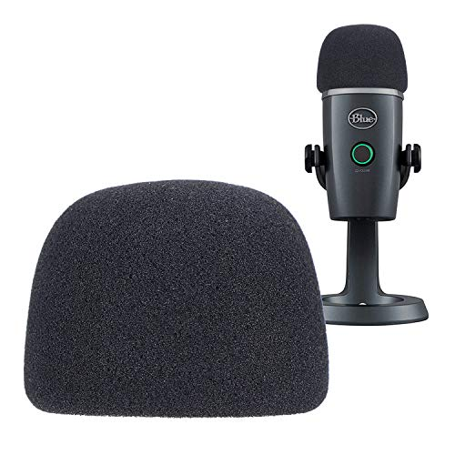 YOUSHARES Yeti Nano Microphone Foam Windscreen - Mic Wind Cover Pop Filter Foam Cover, Professional Customized for Blue Yeti Nano