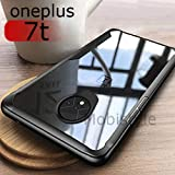 MOBISTYLE oneplus 7t Cover - Luxury Cover for one Plus 7T Shockproof Slim Transparent with Soft Side Bumper Protection Back Case Cover for one Plus 7T / oneplus 7T (Shockproof Black)