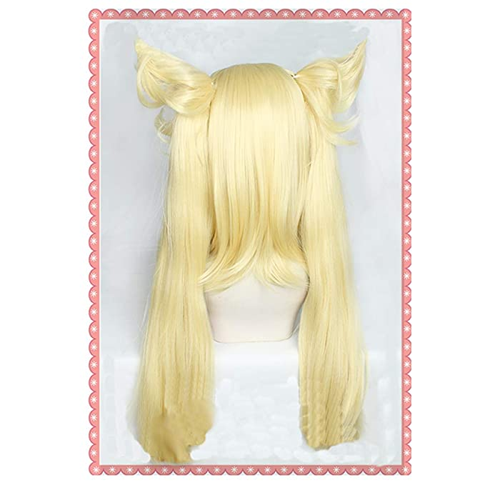 Amazon.com : NNAA Ninny Spangcole Wig, Anime Burn The Witch Cosplay Golden Double Ponytail Hair : Beauty