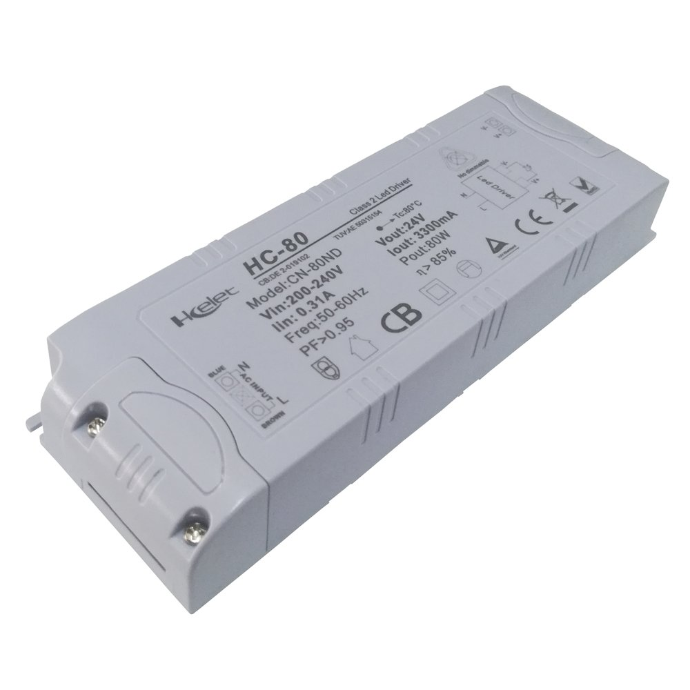 Hcelet Constant Votlage AC TO DC24V Low Voltage LED Driver Transformer 80W LED Power Supply for Rope Lighting LED Strip Light