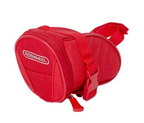 Roswheel 13656 Standard Bicycle Saddle Bag, Pomegranate Red ()
