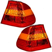 Driver and Passenger Taillights Tail Lamps with Red & Amber Lens Replacement for BMW 63216946533 63216946534