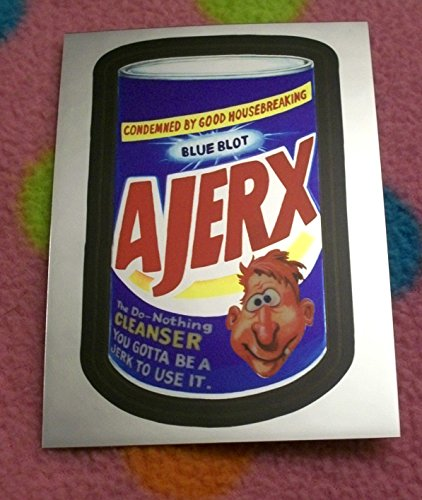 2014 Wacky Packages Chrome Series 1 **Ajerx** #3 Where Are They Now? Insert