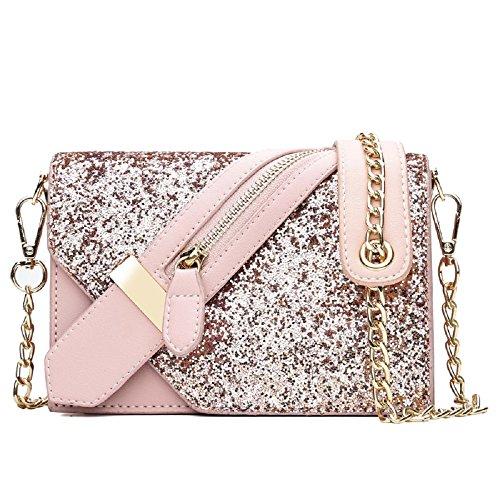 borsa La moda tracolla paillettes piccole quadrato Bianca selvaggia ZHRUI nuova a borse a tracolla zR8ndxqx