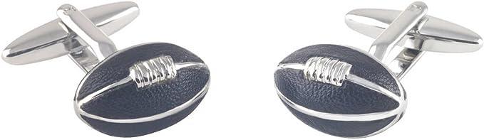 Para Hombre Deportivos Rugby Bola Gemelos /& Grabado Caja De Regalo