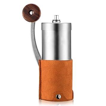 VATHJ Amoladora de café de la mano máquina de café manual de café molinillo de café de la casa amoladora pequeña pequeña amoladora: Amazon.es: Hogar