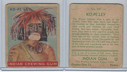 R73 Goudey, Indian Gum, Series 216, 1933, 147 Ko-Pe-Ley, Moqui Pueblo