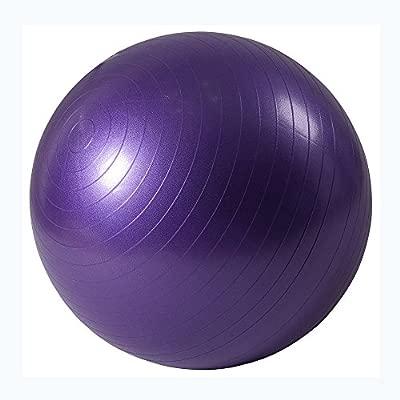 ISE Balón de gimnasia anti-pinchazos, balón de ejercicio (55 cm, 65 cm, 75 cm, con inflador, ideal para yoga y pilates