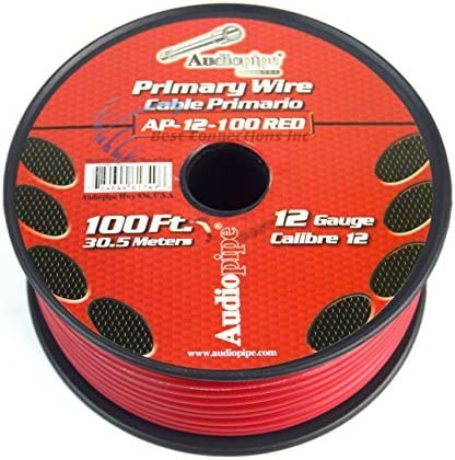 B01C4SZMXA 12 GA GAUGE 100 FT SPOOLS PRIMARY AUTO REMOTE POWER GROUND WIRE CABLE (9 ROLLS) 51AEOy-TZZL