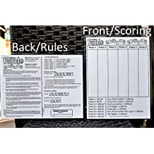 "YARD FARKLE SCORE CARD with Rules on the back- Laminated Farkle Score Card, Reusable Score Card, Size- 8.5"" x 11"""