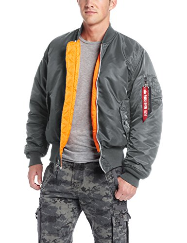 Alpha Industries Men's MA-1 Flight Bomber Jacket, Gunmetal, Medium by Alpha Industries