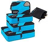 Trumy 5 set Lightweight Packing Cubes (Blue)