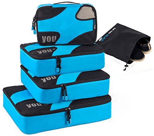 Trumy 5 set Lightweight Packing Cubes (Blue) by Trumy