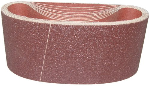Magnate K4X21.75S5 4''x21-3/4'' Open Coat Sanding Belt, Aluminum Oxide - 50 Grit; X Weight