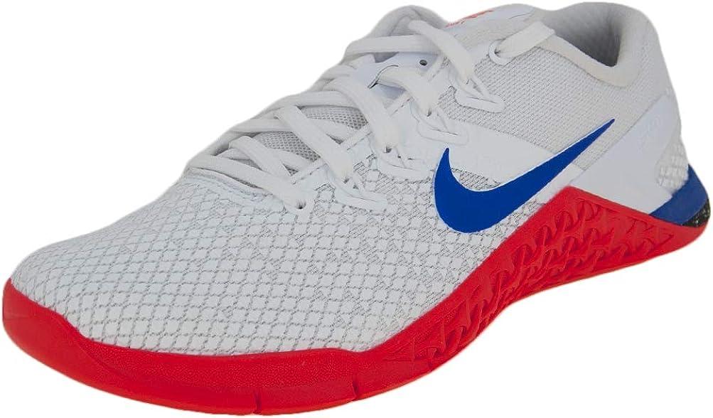 Nike Women's Metcon 4 Xd Training Shoe (6.5, White/Racer Blue-Flash Crimson-sail)