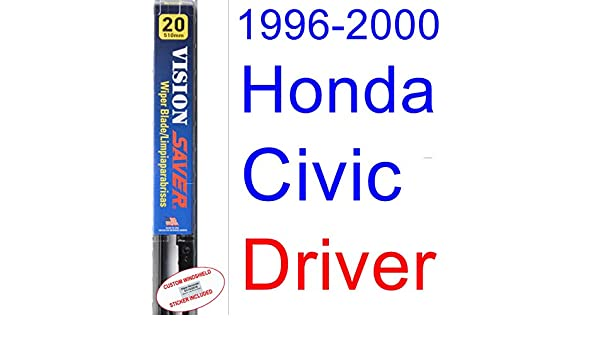 Amazon.com: 1996-2000 Honda Civic Wiper Blade (Driver) (Saver Automotive Products-Vision Saver) (1997,1998,1999): Automotive
