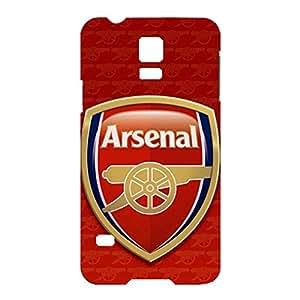 Asenal Football Club Team Logo Customized Slim Protective Hard Plastic 3D Case FT6K011 for Samsung Galaxy S5 mini