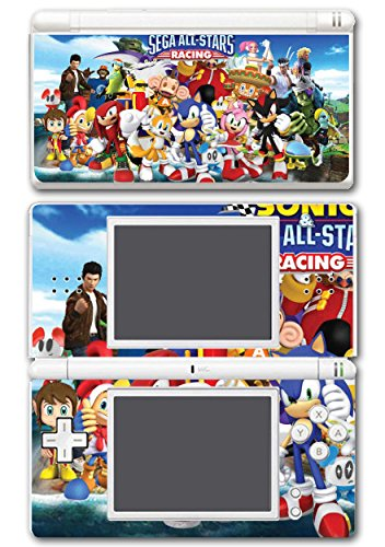 Sega All Stars Sonic Shenmue Knuckles Tails Amy Shadow Eggman Monkey Ball Racing Video Game Vinyl Decal Skin Sticker Cover for Nintendo DS Lite System