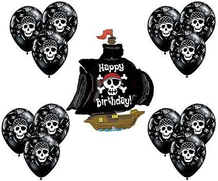 Amazon.com: Barco pirata negro mate Mylar Globo de látex de ...