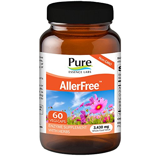 Pure Essence AllerFree - Natural Allergy Relief Supplement- Non Drowsy - 60 Capsules