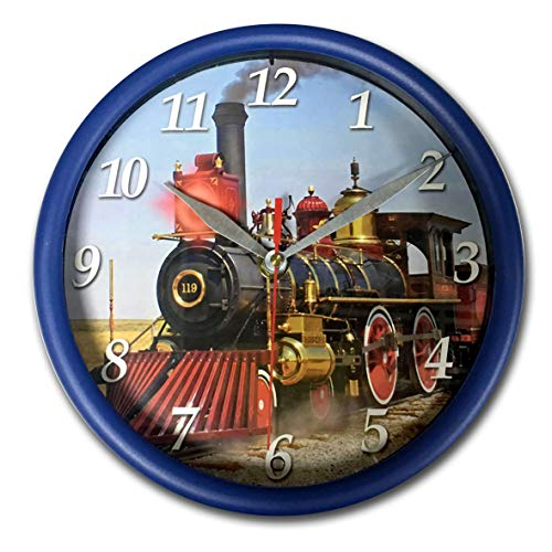 "Carice Holding Ltd Train Sound Wall Clock 8"" Round Train Art with Light"
