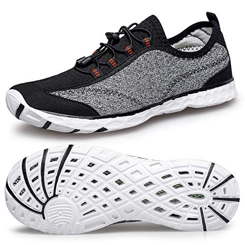 c70270dcc134e Water Sport Shoes Men's Swim Skin Shoes Quick-Dry Barefoot Lightweight  Beach Surf Boat Sneakers for Water Sports Outdoor Swim Surf Beach Pool Yoga  ...