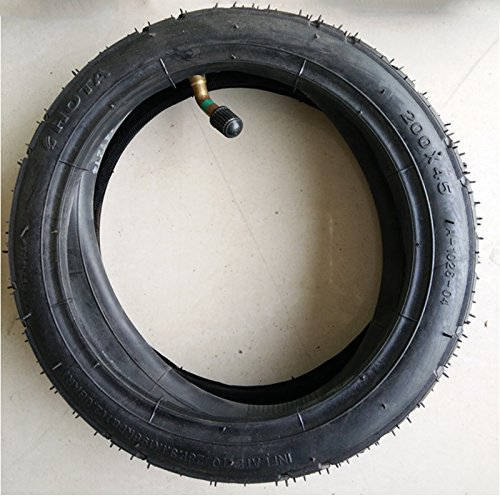 200 Scooter (Tire & Inner Tube 200X45 for Electric Scooter Decathlon Sen Bodi Sun Color)