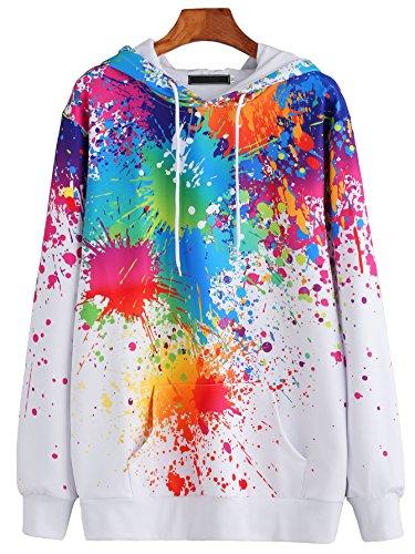 sweatyrocks-white-paint-splatter-print-drawstring-hooded-pocket-pullover-sweatshirt