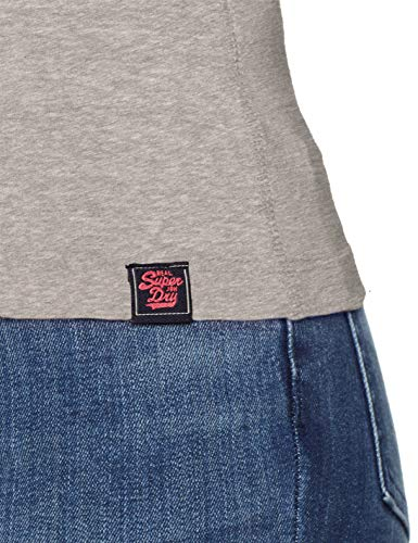 E Vintage Embroidery Superdry T shirt Donna Logo Grey Puff slate Wo5 Grigio Marl Z1wnwq4Fx