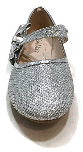 ANNA Kinderkleid Ballerinas Silber