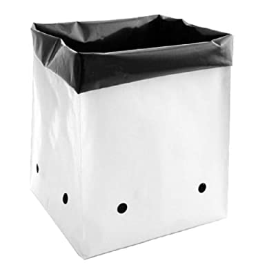 DL Wholesale Grow1 Plastic PE Grow Bags for Plants (Black/White) (10-Pack, 30 Gallon) : Garden & Outdoor