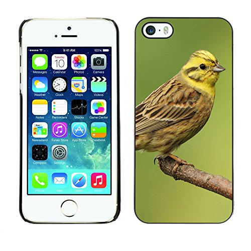 Premio Sottile Slim Cassa Custodia Case Cover Shell // F00004499 oiseau jaune // Apple iPhone 5 5S 5G