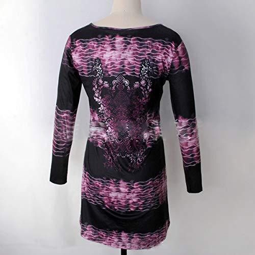Pulls Femmes Automne Manches Long Shirts Col Violet Tops Rond Jumpers Tees Tunique Hauts T Longues Printemps Blouse Shirts Fashion Imprime et Casual EgHnxzq55w
