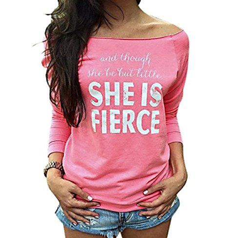 FEITONG-Mujeres-sueltan-Tops-manga-larga-La-camiseta-de-la-blusa-ocasional