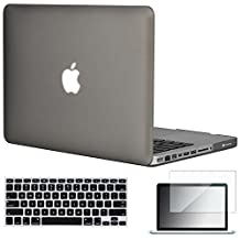 """Easygoby 3in1 Matte Frosted Silky-Smooth Soft-Touch Hard Shell Case Cover for 13-Inch MacBook Pro 13.3"""" [Non-Retina] (Model: A1278) + Keyboard Cover + Screen Protector - Gray"""