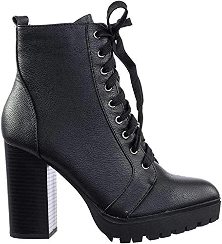 soda black ankle boots - 9