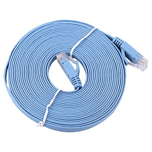 - Lazmin 50' FT Feet 50Ft 50 Feet CAT6 RJ45 Ethernet Network LAN Patch Cable 1000M Cord for Connects Computer to Printer, Router, Switch Box PS3 PS4 Xbox 360 Xbox One - Blue New(18FT)