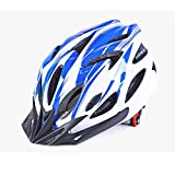 Cheap KCHKUI Bike Helmet, Lightweight Mountain Bicycle Helmet with Liner Adjustable Thrasher Adult Youth Cycling Helmets (Blue)