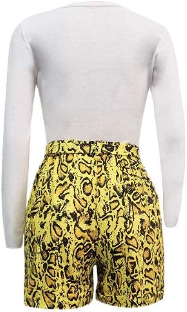 Womens Fashion 2 Piece Outfit Set Bodycon Shirts Shorts Tracksuit Clubwear Jumpsuit Set