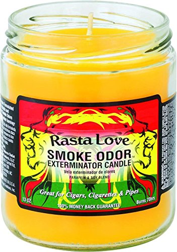 Smoke Odor Exterminator Candle - Smoke Odor Exterminator 13oz Jar Candle, Rasta Love